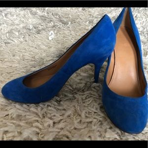 J. Crew Blue Suede Pumps